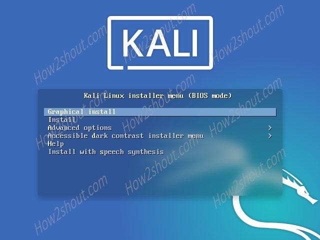 Boot Menu Kali linux-min