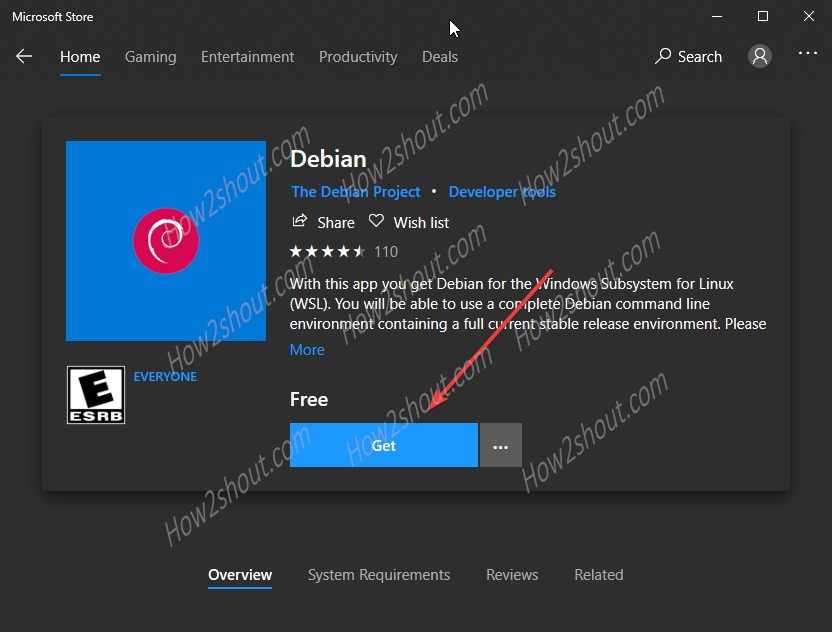 Debian Linux for WSL on Microsoft Store