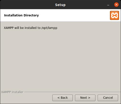 Default installation folder