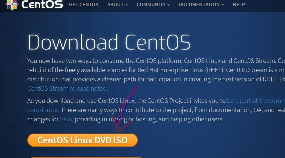 Download CentOS 8 ISO image