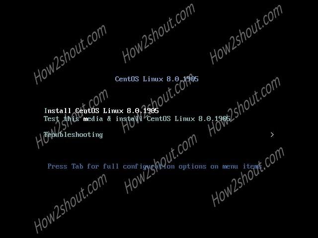 Install CentOS 8 Menu-min