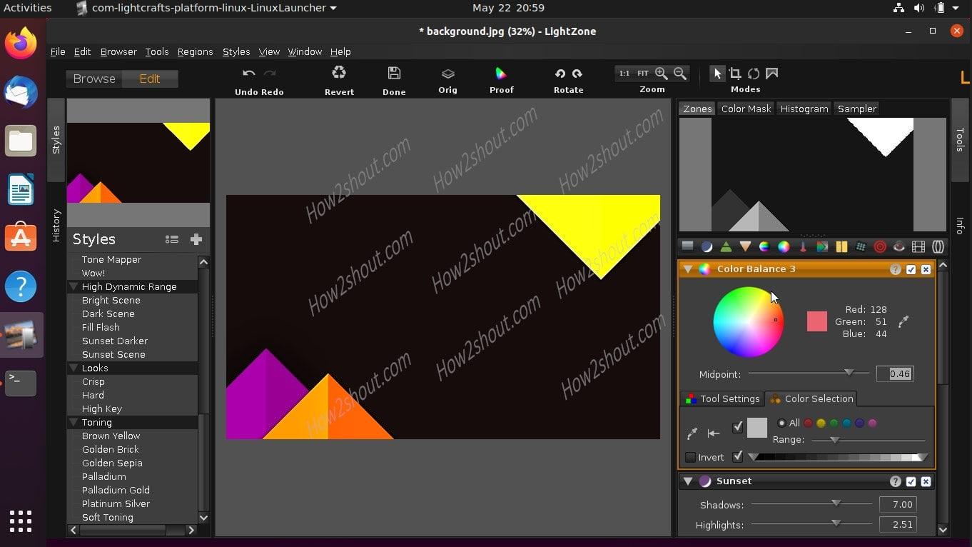 LightZONE photo editor install on Ubuntu 20.04-min