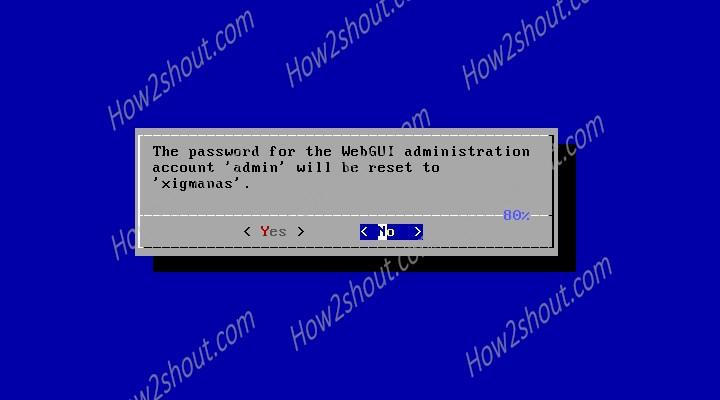 Reset XigmaNAS or NAS4free GUI password