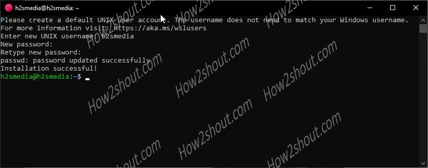 Set username and password