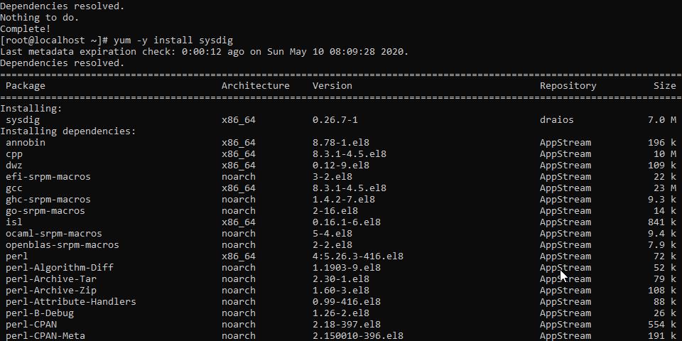 Sysdig install on CentOS