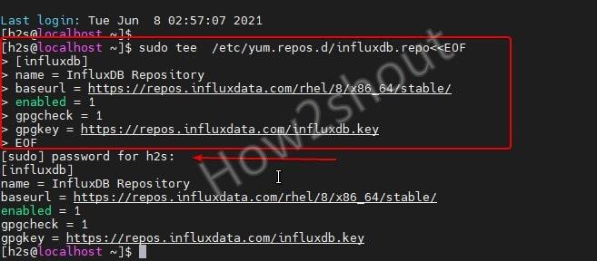 Add InfluxDB repository